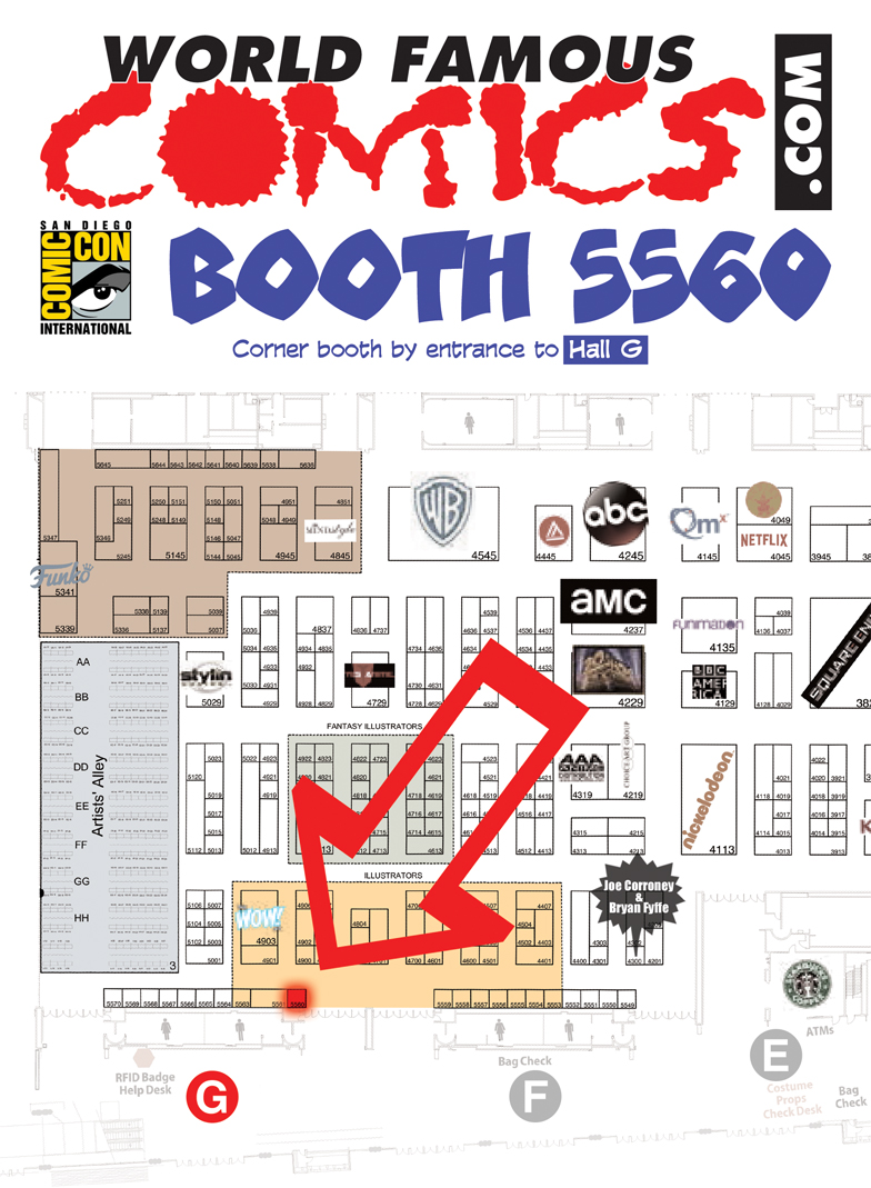World Famous Comics, San Diego Comic-Con 2017, Hall G, Booth 5560